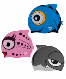 Шапочка для плавания Fish JR assorted, силикон, 91915 20